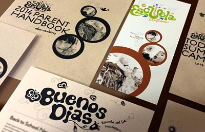 Escuela del Sol montessori school Marketing Material
