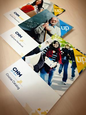 CNM 50th  branding and catalog design