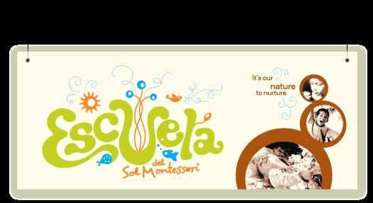 Escuela del Sol montessori school banner design