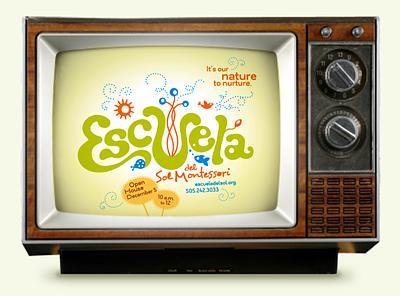 Escuela del Sol elementary school TV ad design