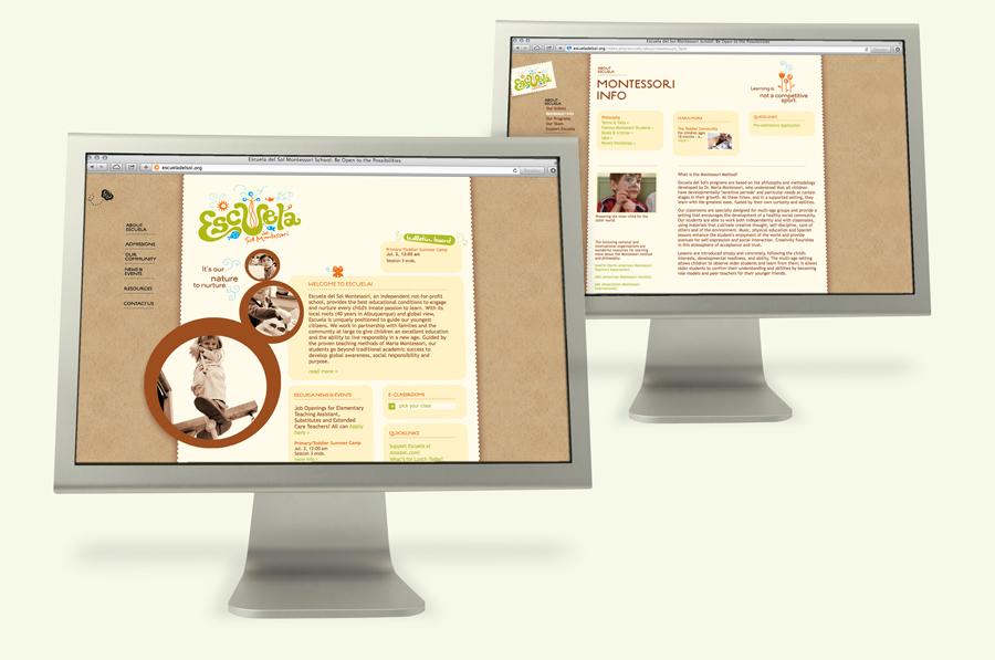 Escuela del Sol Montessori school website design
