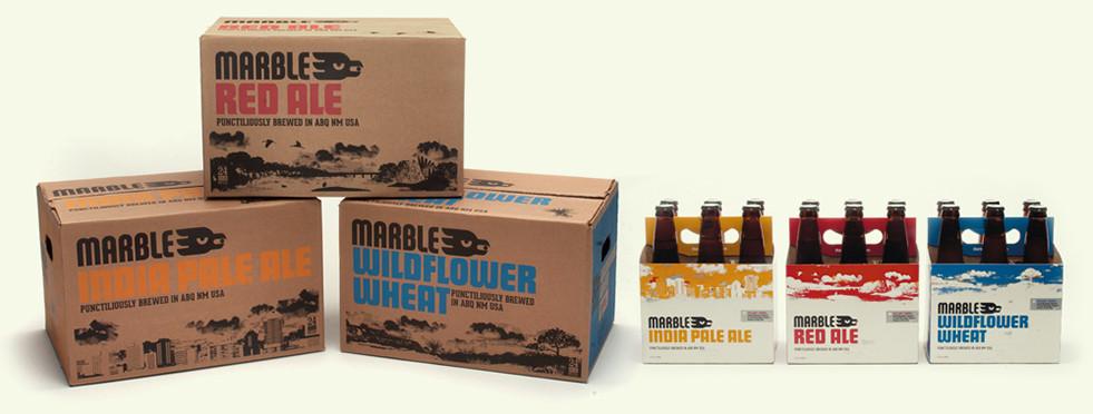 Marble Brewery Packaging, Branding