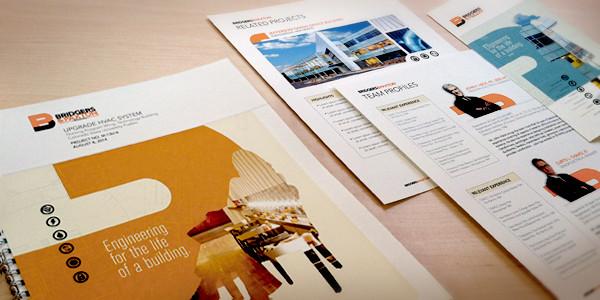 Bridgers & Paxton Marketing Materials Branding  System