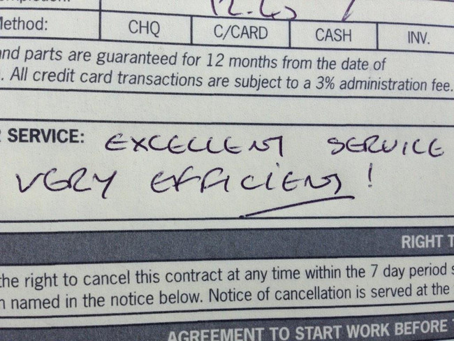 Always nice to get some more great customer feedback , Honiton job