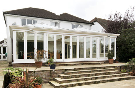 The house with the new orangery