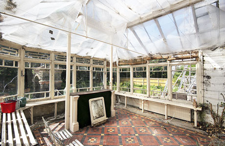 Interior of the old conservatory