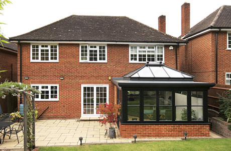 With the new orangery