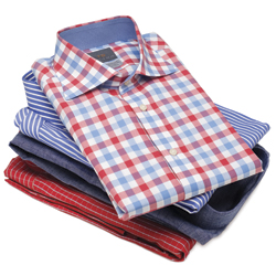 laundry folded shirts