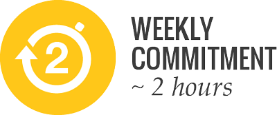 average weekly commitment 2 hours