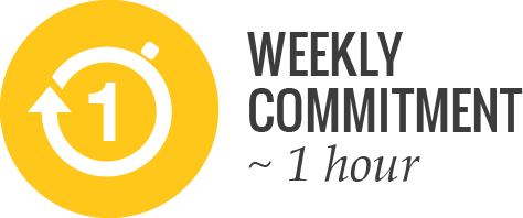 average weekly commitment 1 hour