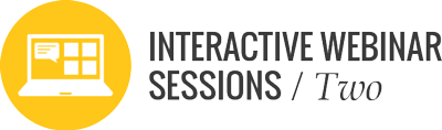 course participants attend two interactive online sessions