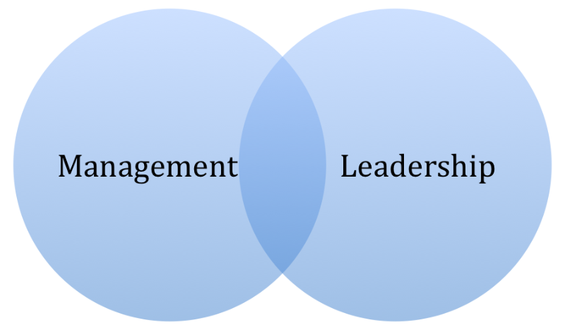 Management and leadership Venn diagram