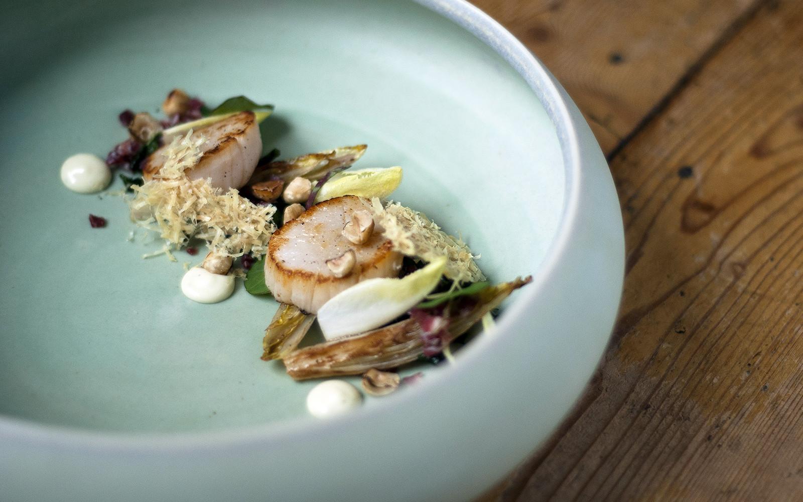Witlof met ham, kaas en coquille - Jurgen Eikholt, restaurant De Schat