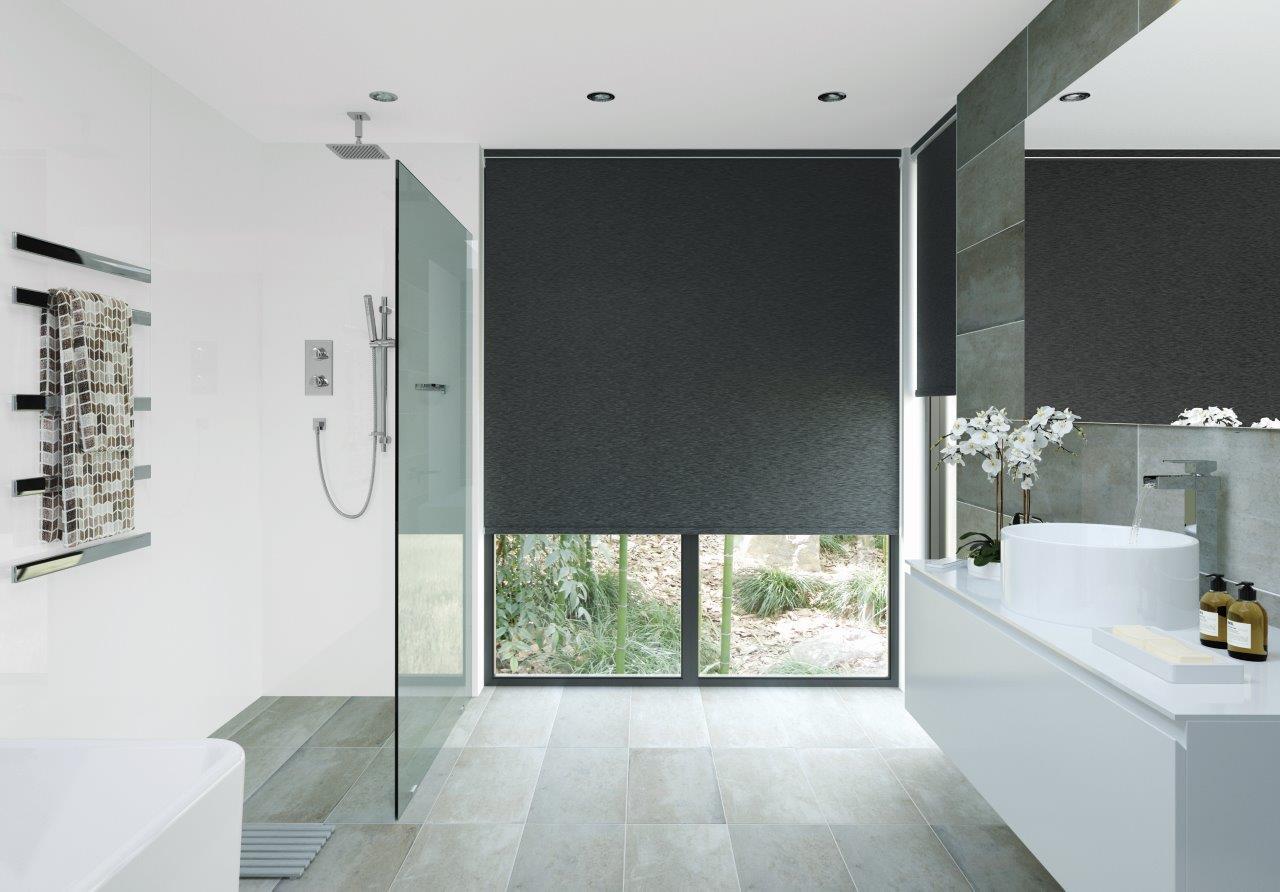 Black bathroom blinds - Made To Measure Roller Blinds