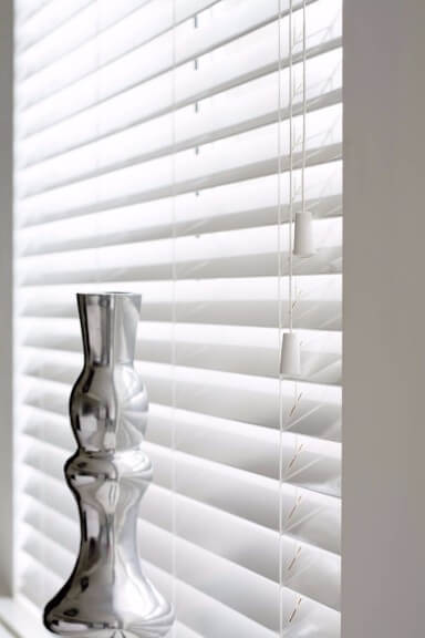 these blinds can be wiped clean with a damp cloth and they also resist dust more so than real wood blinds see below our essentials wood venetian slat