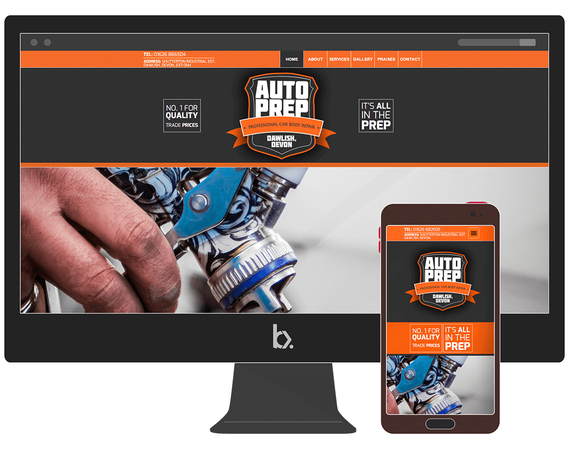 Auto Prep Dawlish website designed and created by Bunker Design and Photography