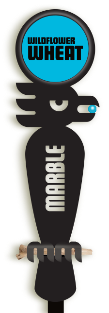 Marble Brewery tap handle with interchangable beer disc
