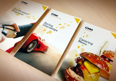 CNM 50th design and branding marketing materials