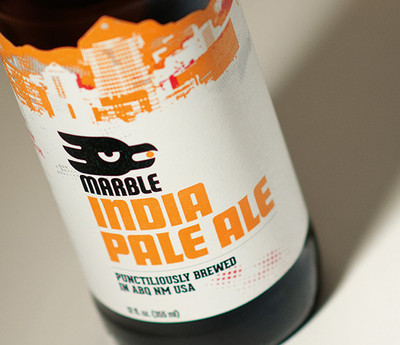 Marble Brewery IPA, label design