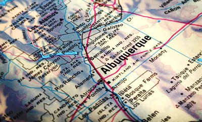 Map of Albuquerque from 1992 World Atlas