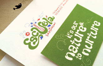 Escuela del Sol Montessori school Stationery design