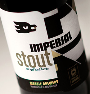 Marble Brewery Imperial Stout featuring label art by Raymundo Sesma