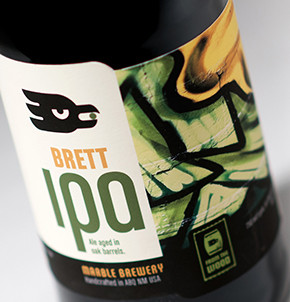 Marble Brewery Brett IPA label design featuring art by Queens Under Estimated CREW