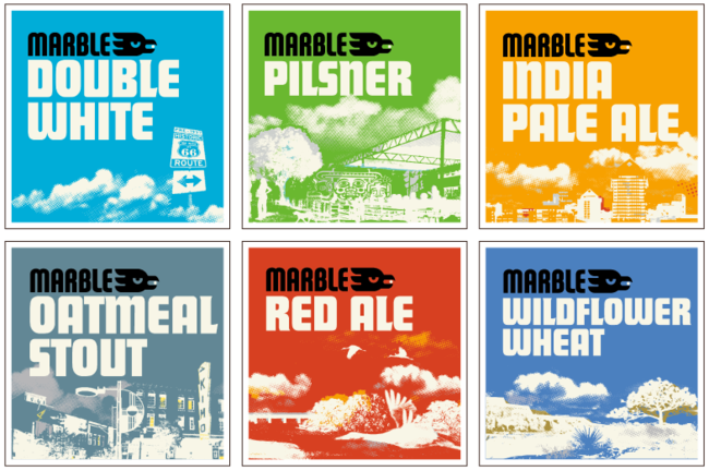 Marble Brewery Beer Badge design and branding
