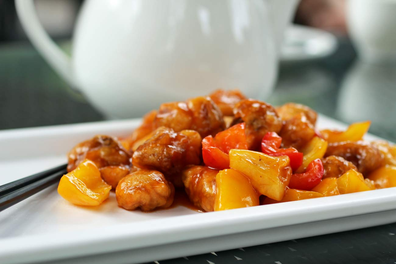 Guangzhou Vegetarian Restaurants | Sweet and Sour Mushrooms