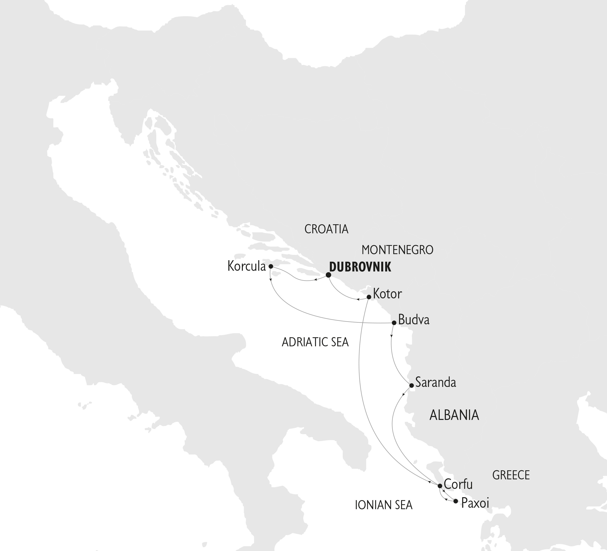 adriatic cruise private plan