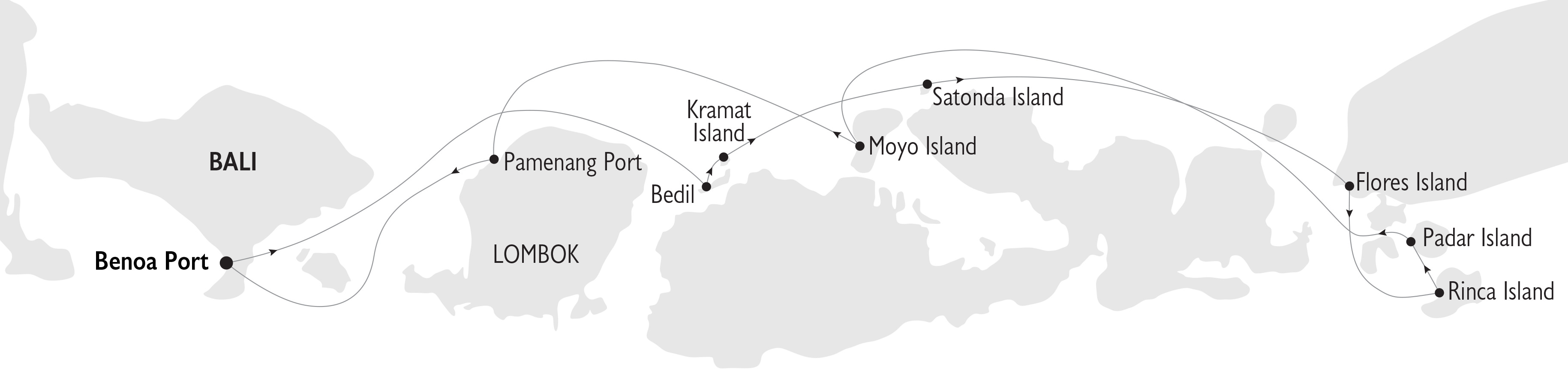 Indonesia Cruise Map