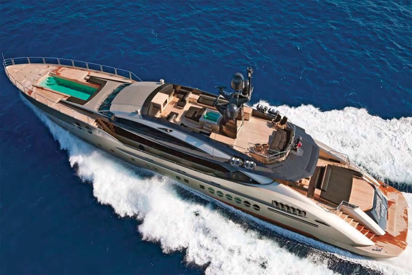 PRIVATE PLAN Palmer Johnson DB9 yacht charter