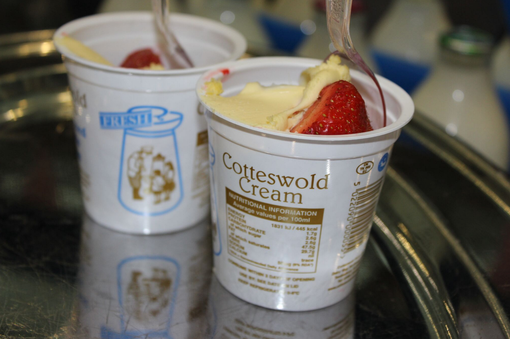 Strawberries and Cotteswold Dairy Double Cream