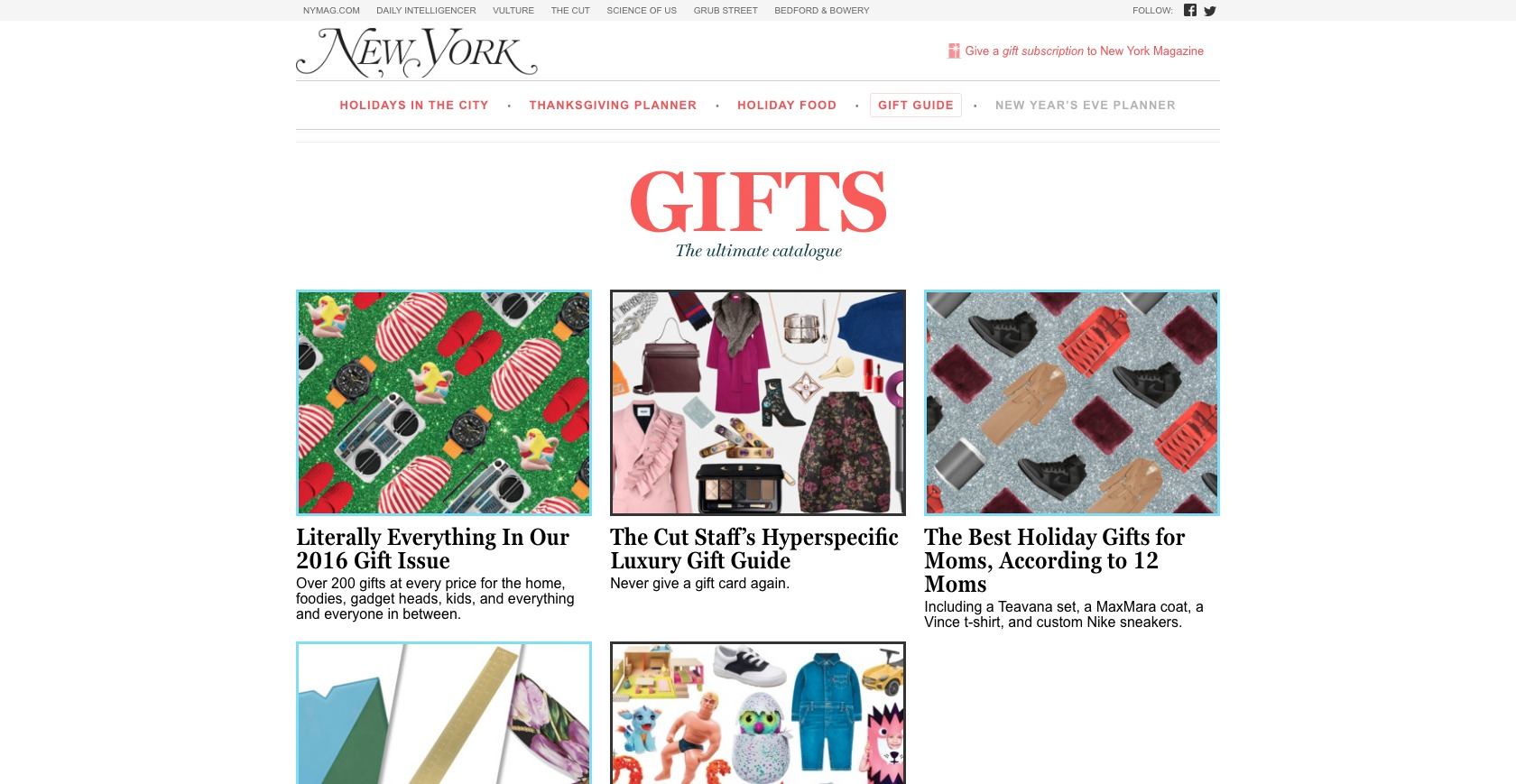 New York Magazine Holiday Gift Guide